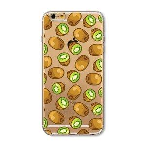 Doorzichtig Kiwi hoesje iPhone 6 6s TPU silicone cover fruit transparant groene Kiwi's