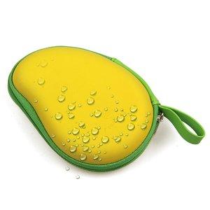 Opbergbox voor oortjes Mango vorm Beschermdoosje oordopjes Geel groen