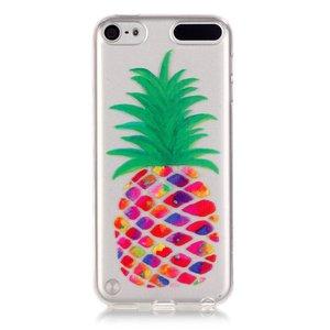 Doorzichtig ananas hoesje iPod Touch 5 6 7 Silicone pineapple case Kleurrijk