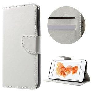 Portemonnee Bookcase hoesje iPhone 7 Plus 8 Plus wit Wallet case Lederen cover