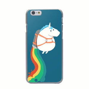 Eenhoorn hoesje Hard case iPhone 6 Plus 6s Plus Unicorn cover Regenboog