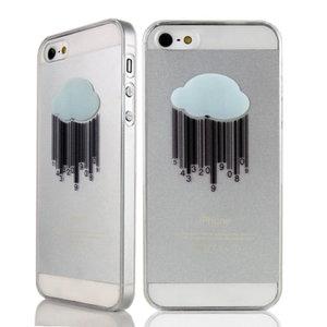 Stevige hardcase met wolk iPhone 4 en 4s Doorzichtig regen hoesje