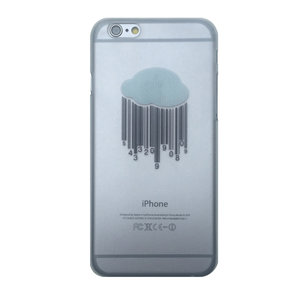 Wolk hoesje hard case iPhone 6 Plus 6s Plus Doorzichtige cover Barcode regen