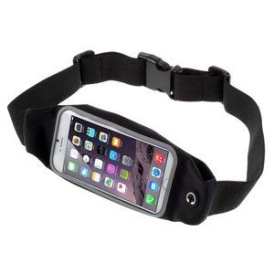 Sportband iPhone 6 6s 7 8 SE 2020 - Hardlopen - Sporten - Heupband - Zwart