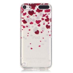 Beschermhoesje TPU iPod touch 5 6 7 hartjes doorzichtig