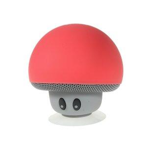 Draadloze bluetooth speaker paddenstoel rood mushroom