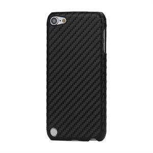 Carbon fiber style hoesje iPod Touch 5 6 7 hardcase beschermhoes zwart