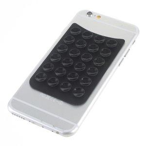 Zuignap matje Anti-slip telefoonhouder Silicone zwart