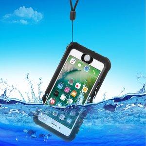 Waterproof iPhone 7 8 case IP68  zwart waterdicht hoesje