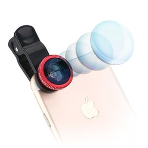 3in1 Groothoek, Fisheye en Macro Lens clip Universeel iPhone/iPod