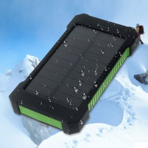 Zon oplaadbare draagbare groene solar powerbank outdoor accu
