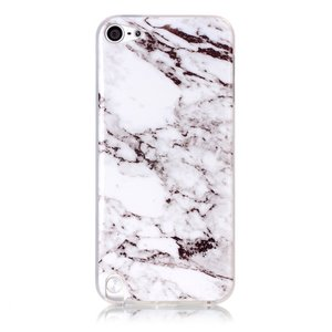Wit iPod Touch 5 6 7 marmer TPU hoesje marble case