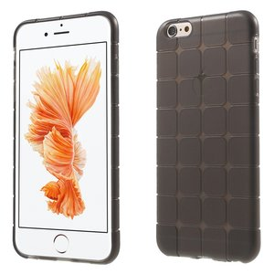 iPhone 6 6s grijs geblokt hoesje TPU cover extra bescherming