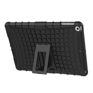 Zwarte survivor iPad 2017 2018 case hoes standaard