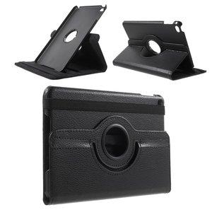 Zwarte lederen iPad mini 4 & iPad mini 5 (2019) draaibare case hoes