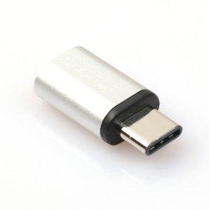Micro USB naar USB C adapter zilver