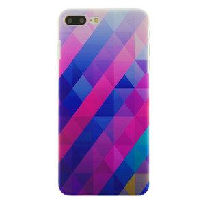 Blauw paarse driehoek iPhone 7 Plus 8 Plus hardcase hoesje cover