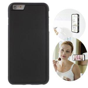 Anti-Gravity case hands-free selfie cover zwart iPhone 6 Plus 6s Plus hoes nano coating