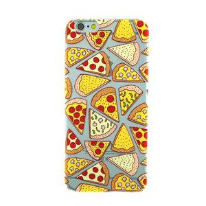 Transparant Pizza hoesje iPhone 6 6s case cover TPU doorzichtig