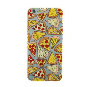 Transparant Pizza hoesje iPhone 6 Plus 6s Plus case cover TPU cover