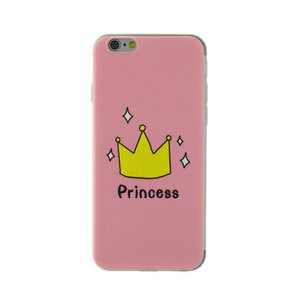 Roze Amsterdam Princess iPhone 6 6s hoesje case kroontje cover