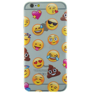 Transparant Emoji iPhone 6 6s TPU hoesje case cover smiley