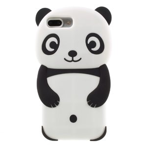 Rilakkuma Panda hoesje iPhone 6 Plus 7 Plus 8 Plus zwart wit silicone case cover