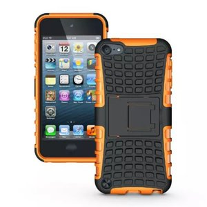 Shockproof oranje iPod Touch 5 6 7 hoesje standaard case cover