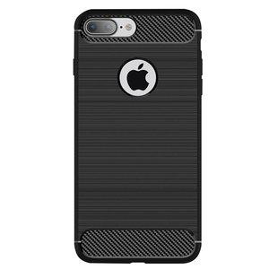 Zwart Carbon Armor iPhone 7 Plus 8 Plus TPU hoesje
