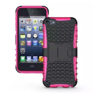 Shockproof roze iPod Touch 5 6 7 hoesje standaard case cover