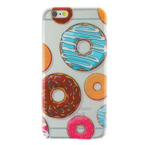 Doorzichtig donut TPU iPhone 6 6s hoesje case