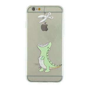 Doorzichtig dino TPU iPhone 6 6s hoesje case