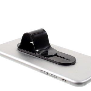 Universele vinger grip verstelbare TPU houder standaard zwart