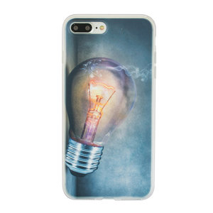 Gloeilamp iPhone 7 Plus 8 Plus TPU case cover - Industrieel Lightbulb hoesje