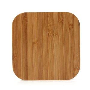 Universele draadloze Qi oplaad pad - Bamboe hout oplader