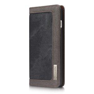 Caseme Canvas Wallet Fabric hoesje iPhone 7 Plus 8 Plus Bookcase - Asgrijs Charcoal
