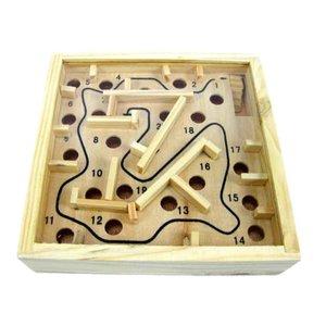 Houten knikkerpuzzel - Doolhof Maze Balans