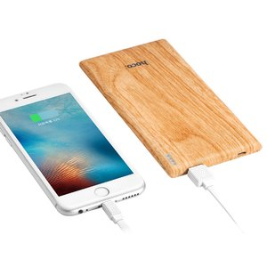 Hoco B10 Powerbank Hout patroon - 7000mAh - Quick Charge Snellader