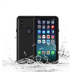 Waterproof iPhone X XS case IP68 waterdicht hoesje - Zwart - Tot 2 meter onderwater