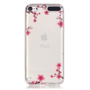 Doorzichtig Bloesem iPod Touch 5 6 7 TPU hoesje - Roze