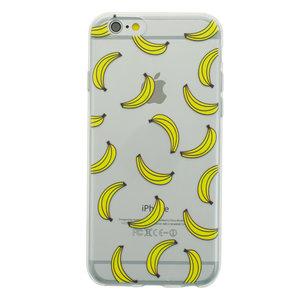 Doorzichtig Banaan hoesje iPhone 6 6s TPU silicone cover fruit transparant gele bananen