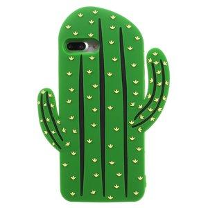 Silicone cactus case iPhone 7 Plus 8 Plus hoesje - Groen