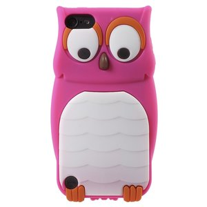 Uil 3D silicone hoesje iPod Touch 5 6 7 - Felroze Wit
