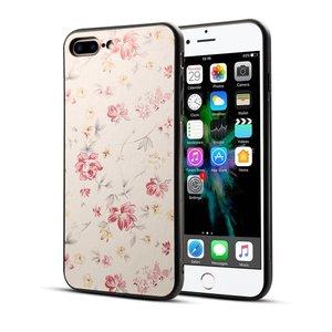 Klassiek bloemen hoesje iPhone 7 Plus 8 Plus - Pastel roze