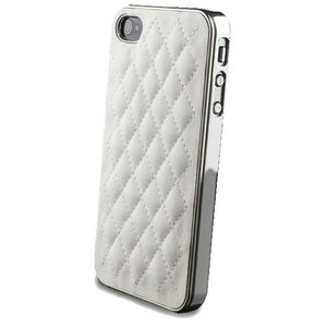 Luxe iPhone 4 4s lederen hoesje leer case hardcase leder - Wit