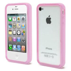 iPhone 4 4S 4G bumper case hoesje silicone - Roze