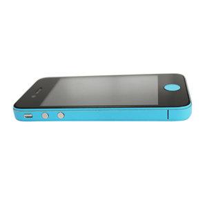 Decor Color Edge iPhone 4 4s Bumper stickers Skin - Lichtblauw