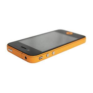 Decor Color Edge iPhone 4 4s Bumper stickers Skin - Oranje