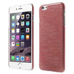 Brushed hardcase hoesje iPhone 6 6s - Rood