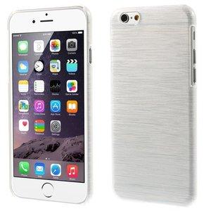 Brushed hardcase iPhone 6 Plus 6s Plus hoesje - Wit